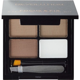 Makeup Revolution London Focus & Fix Eyebrow Shaping Kit 5.8g Medium Dark