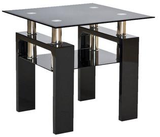 Kafijas galdiņš Signal Meble Modern Lisa D Black Lacquer, 600x600x550 mm