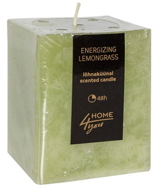 Home4you Candle Energizing Lemongrass 7.5x7.5xH10