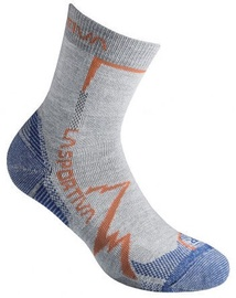La Sportiva Socks Mountain Grey/Cobalt Blue M