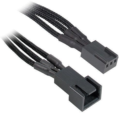 BitFenix 3-Pin to 3 x 3-Pin Splitter for Fans 30cm Black