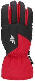 4F Mens Ski Gloves H4Z19 REM001 Red/Black Size L
