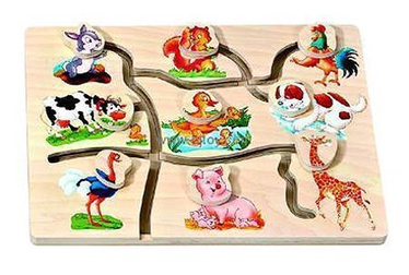 Lavinamasis žaislas, ferma, medinis