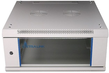 Extralink Wall Cabinet 4U 600x600 Glass Door