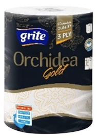 Popierinis rankšluostis Grite Orchidea gold, 3 sl.