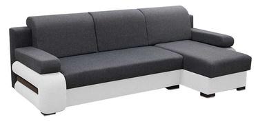 Stūra dīvāns Idzczak Meble Grey Grey/White, labais, 260 x 140 x 72 cm