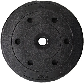 SportVida Rubbered Universal Disc 5kg Black