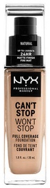 NYX Can't Stop Won't Stop Full Coverage Foundation 30ml Natural