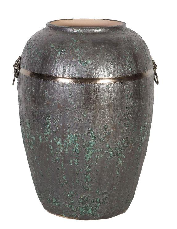 Home4you Leon Ceramic Vase 44cm Antique Green