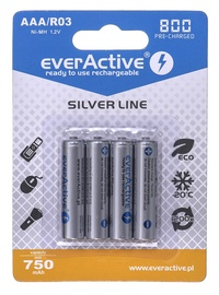 EverActive Silver Line Rechargeable Batteries R03 AAA 800mAh