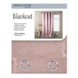 AmeliaHome Blackout Caspe Eyelets Curtains Blush 140x250