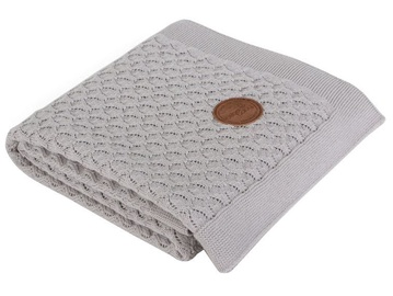 Ceba Baby Knitted Cotton Blanket 90x90cm Grey