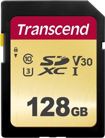 Transcend 500S 128GB SDXC CL10 UHS-I TS128GSDC500S