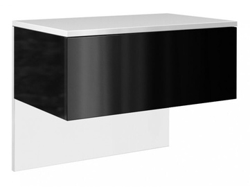 Naktinis staliukas Top E Shop Lili, baltas/juodas, 61x35x46 cm