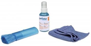 Manhattan Cleaning Solution + Microfiber Cloth + Retractable Brush