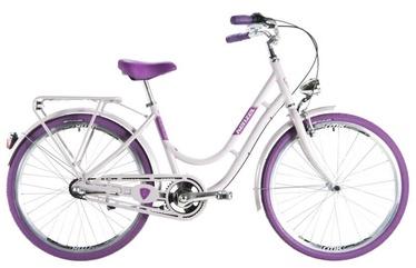 """Dviratis Kenzel Nostalgic Classic White/Purple, 16"""", 28"""""""