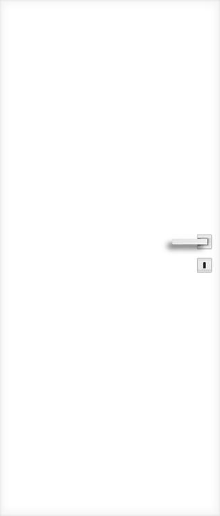 Полотно межкомнатной двери PerfectDoor UNO, белый, 203.5 см x 74.4 см x 4 см