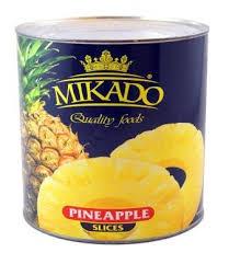 Ananasų griežinėliai MIKADO, 820 g / 490 g