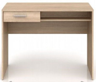 Black Red White Nepo Plus Writing Desk Sonoma Oak