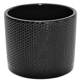 Горшок кер DOMOLETTI, WALEC KROPKI, Ø 13 cm, цвет чёрный