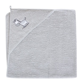 Ceba Baby Bath Towel 100x100cm Little Zebra Grey