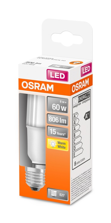 LAMPA LED STICK 8W E27 2700K 806LM PL/MA