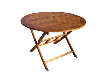 Medinis lauko stalas Gary PNT006, 100x100x74 cm