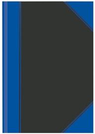 Herlitz Hardback Notebook A4 Black/Blue 10922326