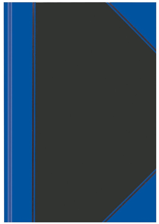 Herlitz Hardback Notebook A4 Black/Blue 10922326