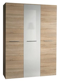 ASM Big Wardrobe Sonoma Oak/White Gloss Door