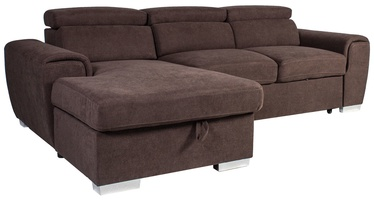 Kampinė sofa Home4you Elba Brown, 260 x 163 x 82 cm