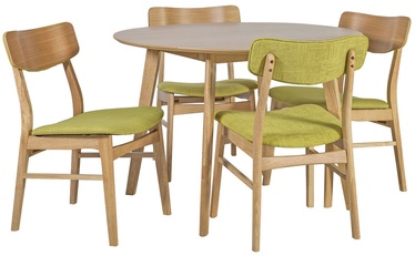 Home4you Dining Room Set Jaxton Oak/Green/Grey