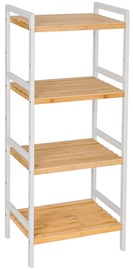 Plaukts Songmics 4-Tier Rack Bamboo, 45x31.5x110 cm