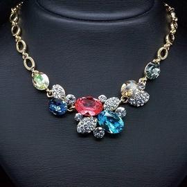 Diamond Sky Necklace Autumn Pattern With Swarovski Crystals