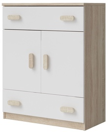Idzczak Meble Smyk III 03 Chest Of Drawers 2S2D White/Brown