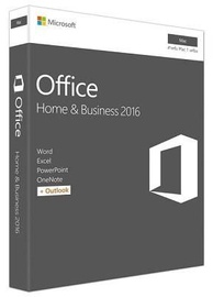 Microsoft Office MAC Home and Business 1PC 2016 ENG Medialess