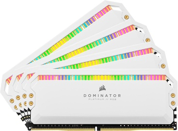 Corsair Dominator Platinum White RGB 32GB 3600MHz CL18 DDR4 KIT OF 4 CMT32GX4M4C3600C18W