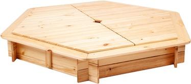 Smėlio dėžė Folkland Timber, 130x130 cm, su dangčiu