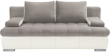 Sofa-lova Black Red White Olimp III Silver/White, 208 x 101 x 98 cm