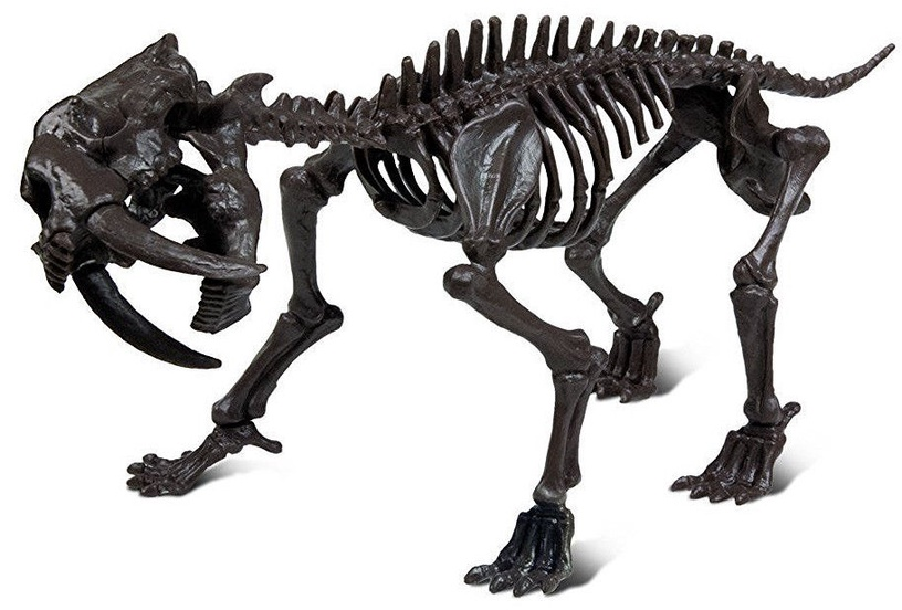 Geoworld Ice Age Excavation Kit Smilodon Skeleton CL1677K