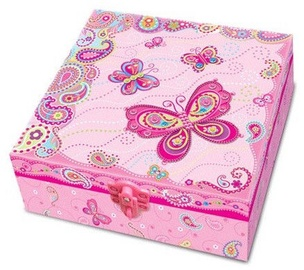 Dekoravimo rinkinys Pulio Pecoware A Box With A Diary And Accessories 175FB Butterflies