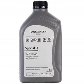 Mootoriõli Volkswagen 5W - 40, sünteetiline, sõiduautole, 1 l