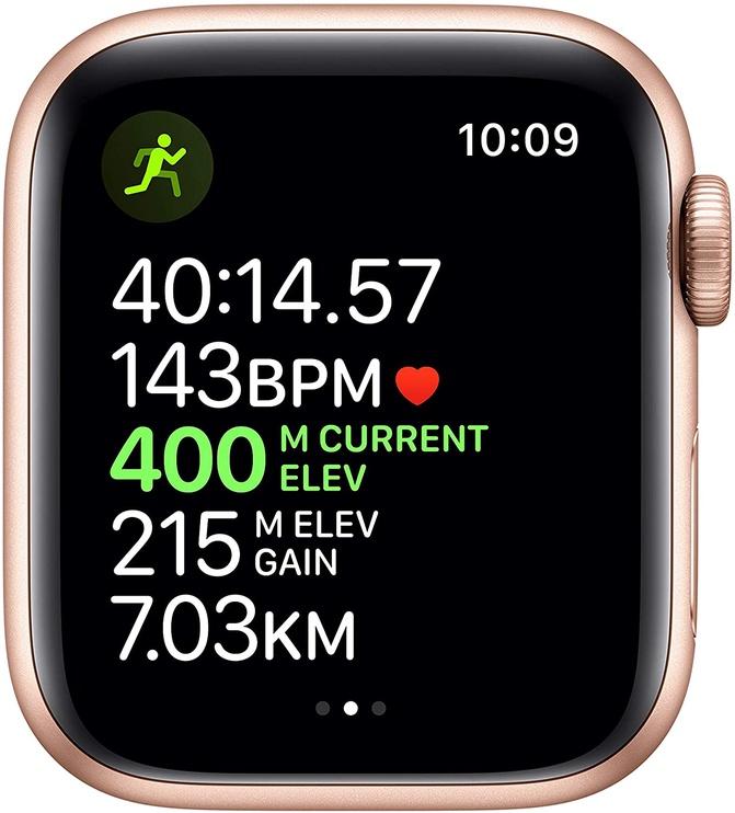 Išmanusis laikrodis Apple Watch Series 5 40mm GPS Gold Aluminium Case with Pink Sand Sport Band