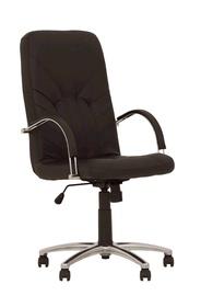 Darbo kėdė Manager Steel Chrome, juoda