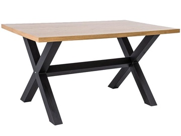 Signal Meble Xaviero Light Oak Table 180x90cm Oak/Black