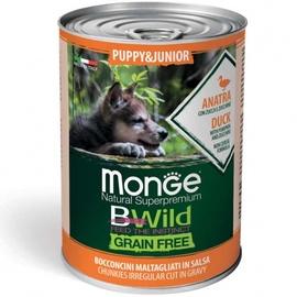 Влажный корм для собак Monge BWild Chunkies In Gravy Puppy Duck With Pumpkin And Zucchini, 0.4 кг