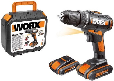 Worx WX101.1 Cordless Drill with 2x 20V Batteries