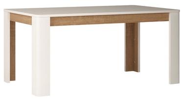 Pusdienu galds Meble Wojcik Linate Type 75 White/Truffle Oak, 2000x900x755 mm