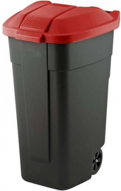 Curver Waste Bin 110L Black/Red