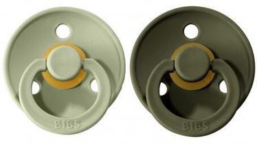Bibs Colour Round Pacifier 2pcs Sage/Hunter Green 6-18m